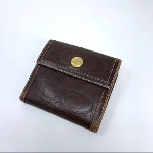 Coach leather wallet C logos